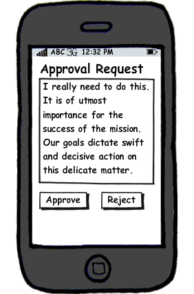Approval with 2 buttons