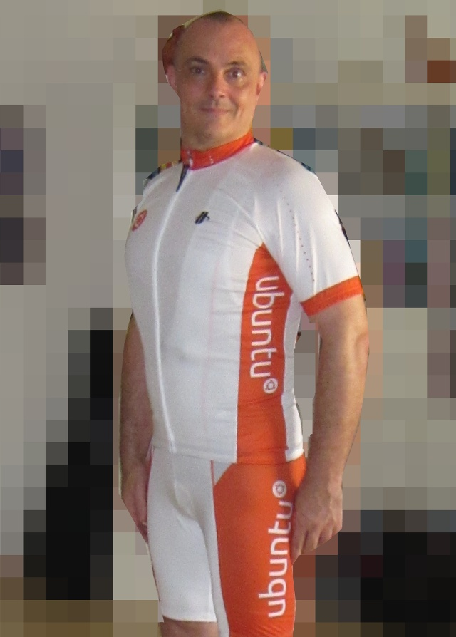 Middle Aged Man in Lycra